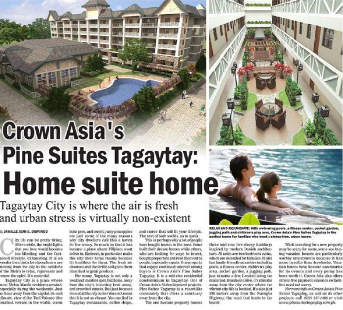 Crown Asias Pine Suites Tagaytay Home Suite Home