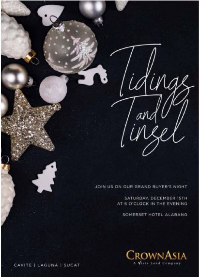 TIDINGS TINSEL  A Crown Asia Grand Buyers Night Crown Asia