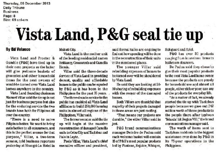 Vista Land PG Seal Tie Up Crown Asia
